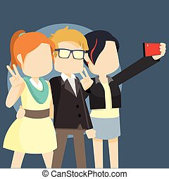 bevétel, selfie, híres ember, három