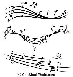 bever, hangjegy, zene
