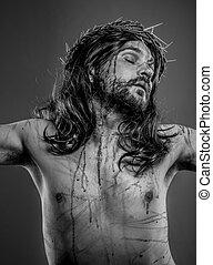 biblia, ábrázolás, jesus christ, kereszt