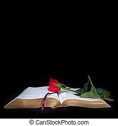 biblia, black háttér