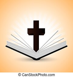 biblia, design., icon., lakás, ábra, könyv