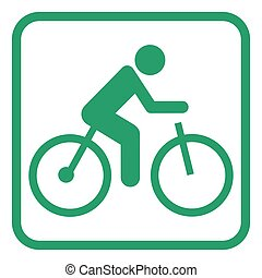bicikli, elektromos, pictogram