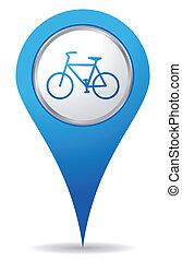 bicikli, elhelyezés, ikonok