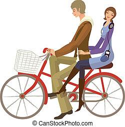 bicikli elnyomott, párosít