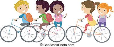 bicikli, gyerekek