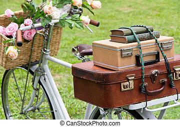 bicikli, mező, szüret