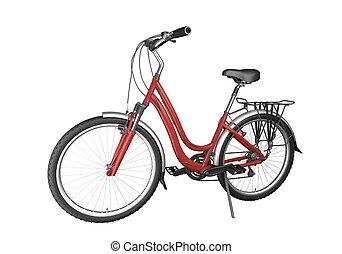 bicikli, piros, isoalted