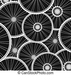 bicikli, sok, vektor, háttér, fehér, tol