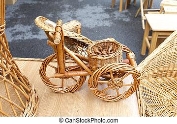 bicikli, wicker berendezés