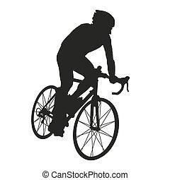 biciklista, árnykép