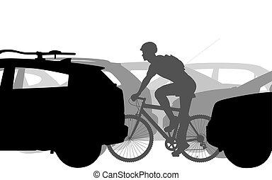biciklista, forgalom
