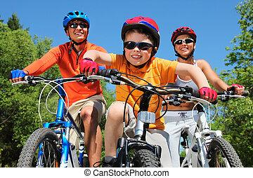 biciklista, ifjú