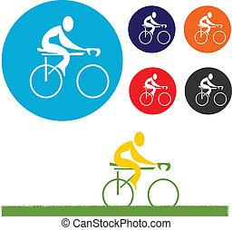 biciklista, ikon