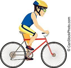 biciklista, profi, ember
