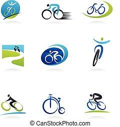 bicycles, ikonok, kerékpározás