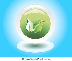 bio, eco, társaság, barátságos, jel, vagy