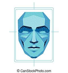 biometric, elismerés, arc