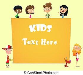 birtok, ábra, transzparens, tiszta, gyerekek