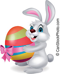 birtok, üregi nyúl, húsvét, csinos, karikatúra