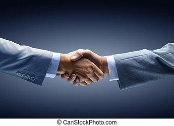 birtok, black háttér, -, kézfogás, kéz