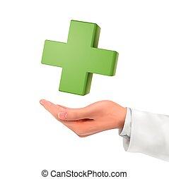 birtok, jelkép, orvosi, kéz, 3