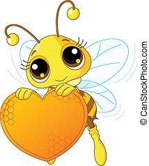 birtok, szív, kellemes, méh, csinos