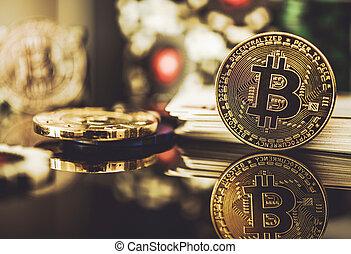 bitcoin, currency., kaszinó, fizetés
