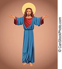 bizalom, kép, vallásos, krisztus, jézus