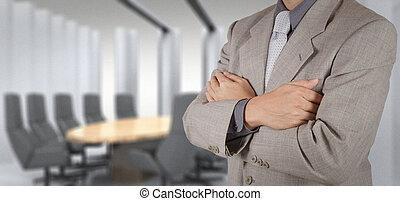 bizottság, üzletember, siker, övé, szoba