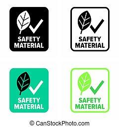 biztonság, aláír, anyag, oltalmazó, értesülés, egészség