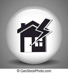 biztonság, biztosítás, épület