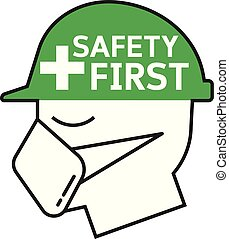 biztonság, jelkép, először
