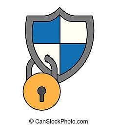 biztonság, kibernetikai, digitális