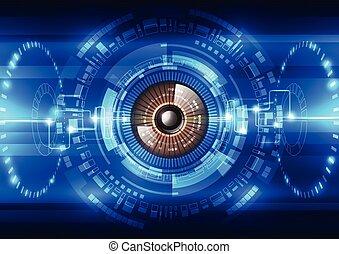 biztonság, vektor, rendszer, háttér, elvont, jövő, technology ábra