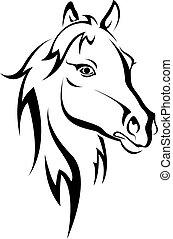 black ló, árnykép