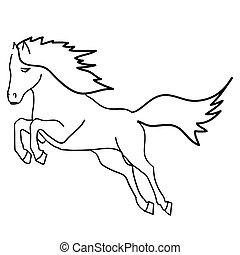 black ló