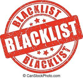 blacklist, gumi bélyegző