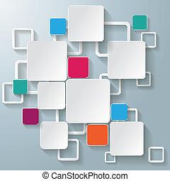 blokkok, színes, téglalap