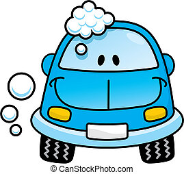 blue autó, vektor, lemos