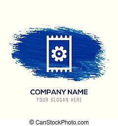 blue bekapcsol, -, vízfestmény, háttér, ikon