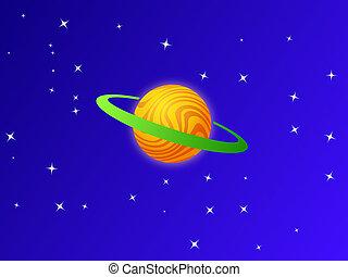 blue bolygó, white ég, narancs