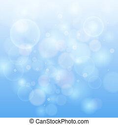 blue csillogó, bokeh, elvont, háttér.