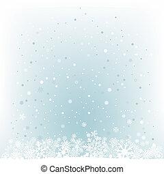 blue csillogó, hó, behálóz, háttér, lágy