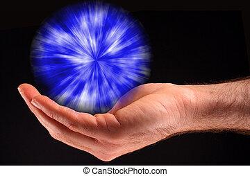 blue csillogó, labda