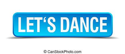 blue egyenesen, táncol, gombol, elszigetelt, gyakorlatias, lets, 3