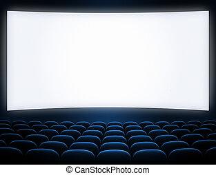 blue ellenző, mozi, elhelyez