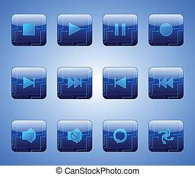 blue gombolódik, elektromos, szórakozás