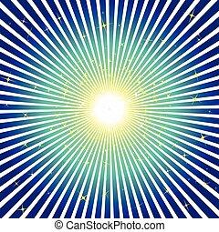 blue háttér, csillaggal díszít, kitörés