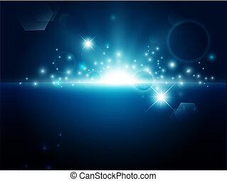 blue háttér, fényes, elvont