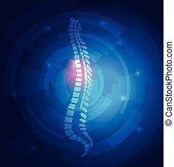 blue háttér, oszlop, fény, elvont, megvonalaz, gerinc-, emberi